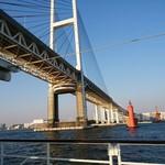 生香園 - ベイブリッジ@横浜港 下から見たところ