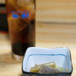江戸政 - 料理写真:2018.3 コーヒーハイ(300円)、お通し(無料)