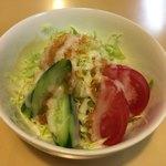 ガネーシャ - サラダ セットとは思えないほどのボリューム、酸味のきいたドレッシング。