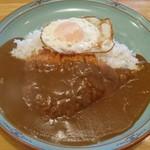 マルパソ - チキンカツカレー730円+トッピング目玉焼き100円
