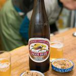 鳥房 - 2018.3 ビール(580円)キリンラガー大瓶