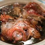うを徳 - 2018.3 銚子キンメ カブト煮付け