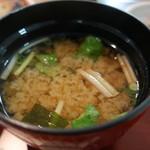 京粕漬 魚久  - 味噌汁