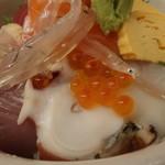 塩竈市場食堂 - たこ、いくら、白魚など