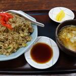 久砂園 - 料理写真:炒飯玉子スープ&沢庵付