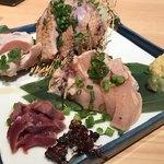 わら焼・串焼ダイニング 焼名人 - 鶏刺し4種盛り