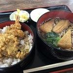 長寿庵 - かつ丼セット きつね蕎麦 ¥1050-