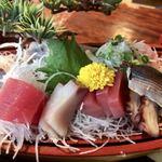 Banshou - さしみ盛合せ(うなぎ定食)