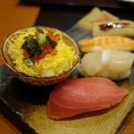 かごの屋 - にぎり寿司とミニイクラ丼