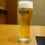 かごの屋 - 生ビールは ザ・プレミアム・モルツ