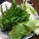 朝起 - スッポン鍋の野菜