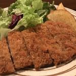 創味 - 大きくカットされたフライドポテト、サニーレタスのサラダもかなりのボリュームです(2018.3.19)