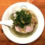 麺屋 六感堂 - 塩グリーン麺ゆずみつば(950円)