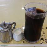 レストラン神谷 - 近江牛しゃぶサラダ定食1,080円のアイスコーヒー