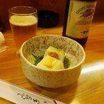 たかぐら - お通しの地豆豆腐