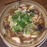 越後秘蔵麺 無尽蔵 - 野菜きのこラーメン。とろみのあるスープで、猫舌さんには不向き。