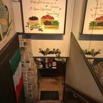 トラットリア リアナ - 地下1階が玄関です