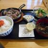 十一 - 料理写真:豚タンステーキ鉄板(定食)(╹◡╹)♡