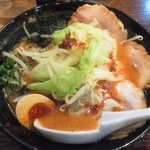 8271965 - 赤豚骨太麺+チャーシュー追加2枚