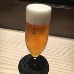 炭火焼肉 吉祥寺ホルモン 十兵衛 - 生ビール390円(オープン記念サービス)
