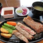 82715361 - 湧秀牛ステーキ定食
