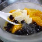 糖朝 - ドライアイスがモクモク