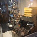 82719754 - 店の入り口から見える自家製麺機