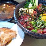 すし盛 - ピリ辛マグロ丼ランチ