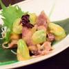 小馳走蔵 TAKERO - 料理写真:ほたるいかと空豆のからし酢みそあえ@780円