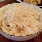 aunt MIMI - 【赤魚のから揚げ アオサ海苔餡掛け@税込1,080円】お米は、胚芽米をチョイス。他に玄米をセレクト可。