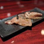 にくがとう - 赤身肉の握り☆