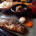 鯖の塩焼き専門店 鯖なのに。 - 「もの凄い鯖」の塩焼き定食(1,000円)その2