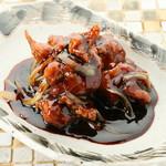 鶏の唐揚げ黒酢炒め