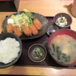 魚蔵 ねむろ - 北海道産牡蠣フライ定食
