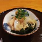 味農家 - 料理写真:ベジタリアンコース(蕪と筍の酒蒸し)