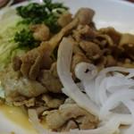 やきとり 吉野 - 豚肉生姜焼き 380円