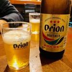 島おでん たから - オリオン瓶ビール(600円)
