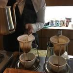 ハート コーヒー - ネルドリップです