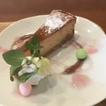 あおくまカフェ - 桜のベイクドチーズケーキ