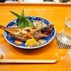 汐菜 - 料理写真:キツネ鰈 & 長門挟 純米大吟醸 50(萩)