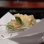 芦屋天がゆ - 白魚の綿糸巻き