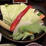 北新地 串かつ凡 - 生野菜