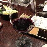 北新地 串かつ凡 - 赤ワイン(グラス)