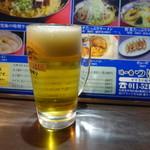 味一番つばさ - 生ビール(400円)
