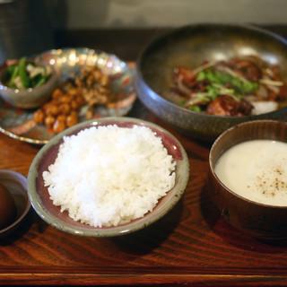 定食堂 金剛石 - 料理写真:仔羊の生姜焼き定食