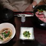 米沢牛黄木 - 極とろ炙り丼セット ¥2,300