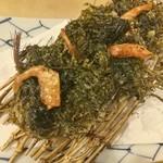 旬の海藻「銀葉草」のかき揚げ