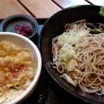 四谷 政吉 - ミニ穴子天丼セット600円