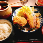 沖縄とんかつ食堂しまぶた屋 - やんばる島豚あぐーロース・ヒレ合い盛り(2.138円:税込)