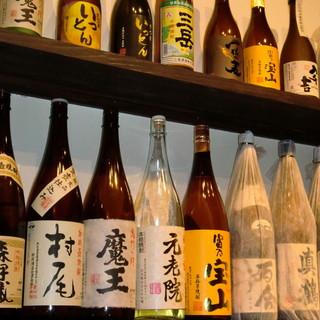 焼肉に合う本格プレミアム焼酎とワインも多数取揃えております。